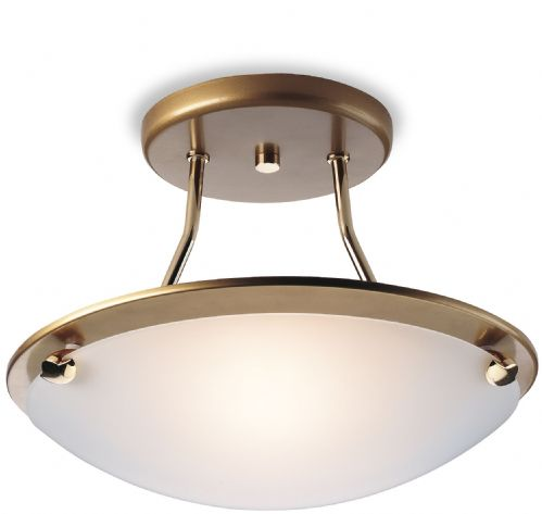 Firstlight S300SB Satin Brass Champagne Semi Flush Fitting